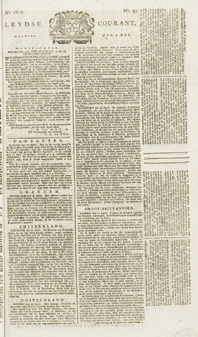 Leydse Courant 1819-05-03