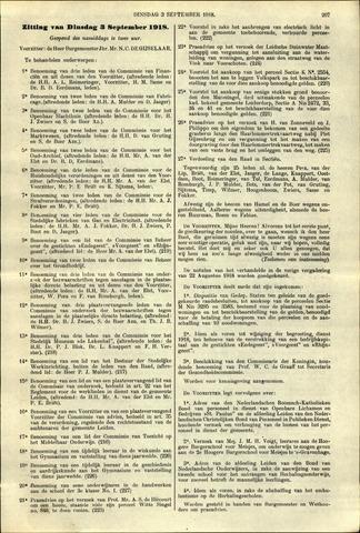 Handelingen van de Raad 1918-09-09