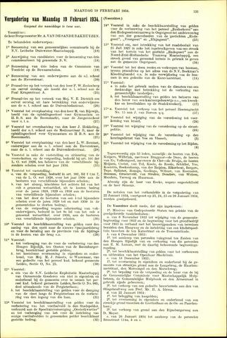 Handelingen van de Raad 1934-02-19