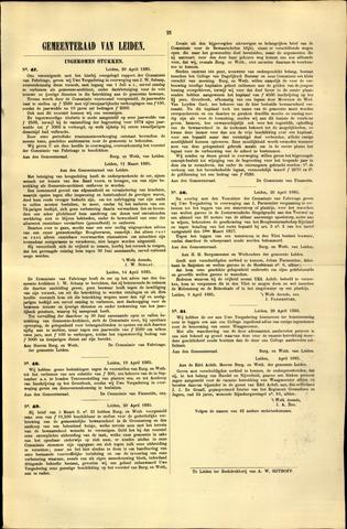 Handelingen van de Raad 1885-04-20