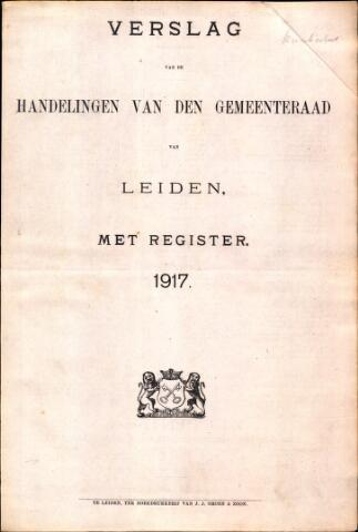 Handelingen van de Raad 1917-01-01
