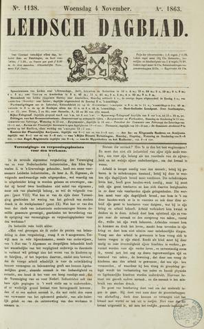 Leidsch Dagblad 1863-11-04