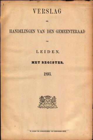 Handelingen van de Raad 1893-01-01