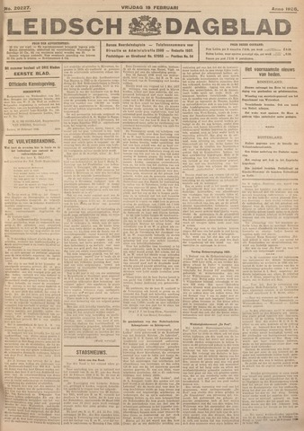 Leidsch Dagblad 1926-02-19