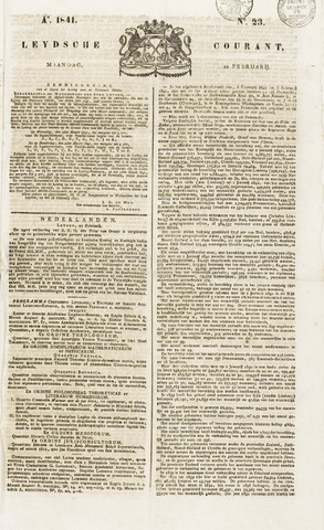 Leydse Courant 1841-02-22
