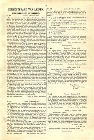 Handelingen van de Raad 1913-02-03