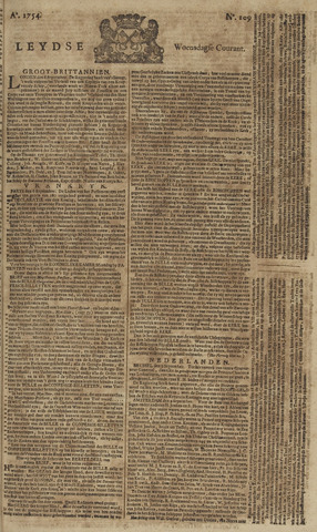 Leydse Courant 1754-09-11