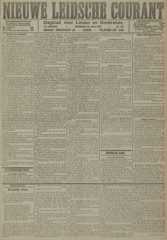 Nieuwe Leidsche Courant 1921-07-19