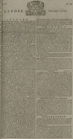 Leydse Courant 1728-11-22