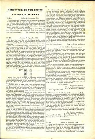 Handelingen van de Raad 1904-09-21