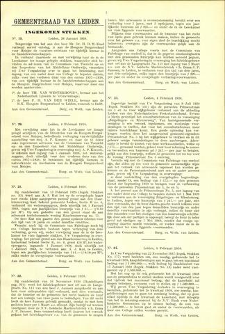 Handelingen van de Raad 1938-01-26