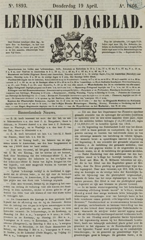 Leidsch Dagblad 1866-04-19