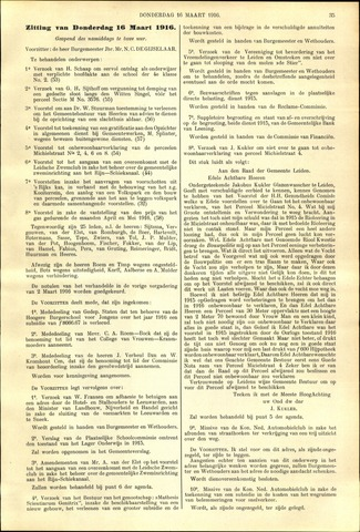 Handelingen van de Raad 1916-03-16