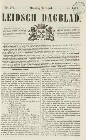 Leidsch Dagblad 1863-04-27