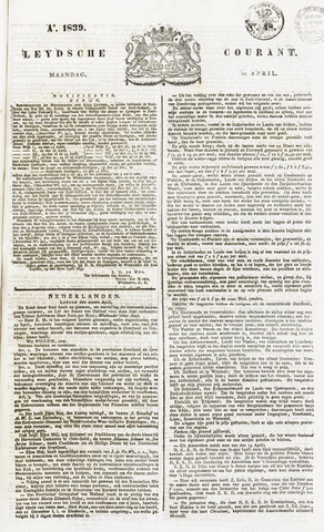 Leydse Courant 1839-04-22