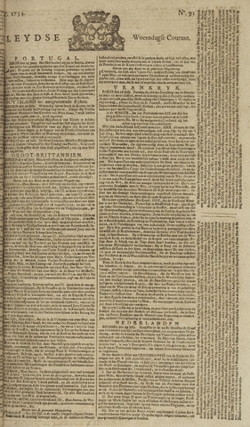 Leydse Courant 1754-07-31