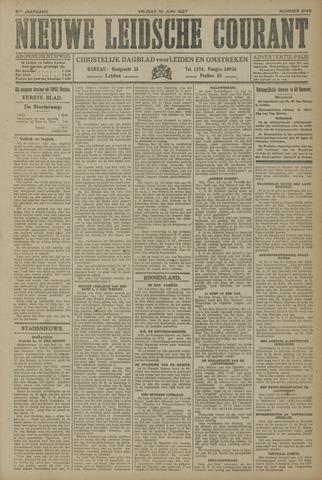 Nieuwe Leidsche Courant 1927-06-10