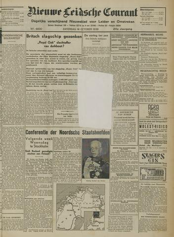 Nieuwe Leidsche Courant 1939-10-14