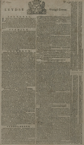 Leydse Courant 1749-11-14