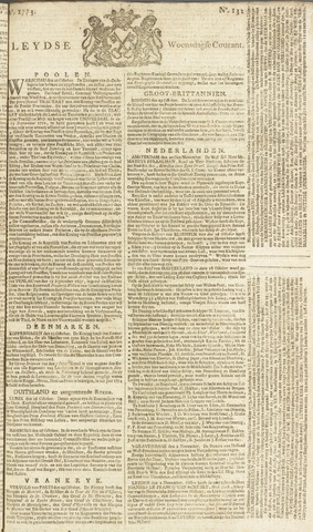 Leydse Courant 1773-11-03