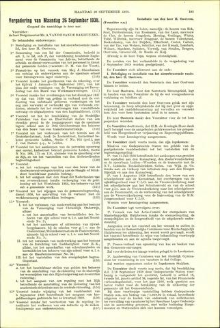 Handelingen van de Raad 1938-09-26