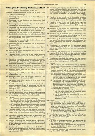 Handelingen van de Raad 1919-12-29