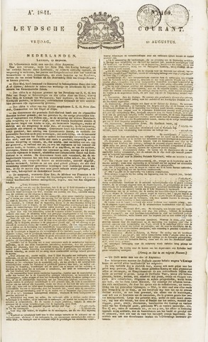 Leydse Courant 1841-08-20