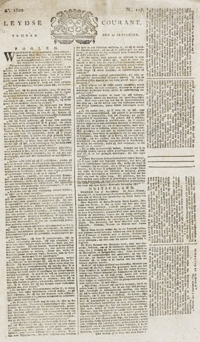 Leydse Courant 1820-09-29