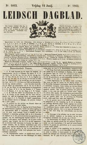 Leidsch Dagblad 1863-06-12