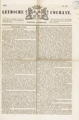 Leydse Courant 1862-02-19