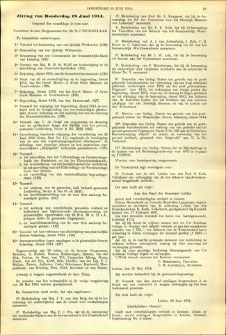 Handelingen van de Raad 1914-06-18