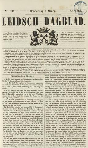 Leidsch Dagblad 1863-03-05