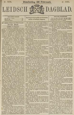Leidsch Dagblad 1885-02-26