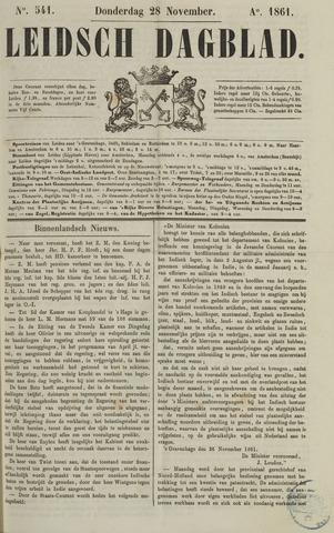 Leidsch Dagblad 1861-11-28