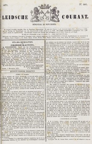 Leydse Courant 1871-11-28