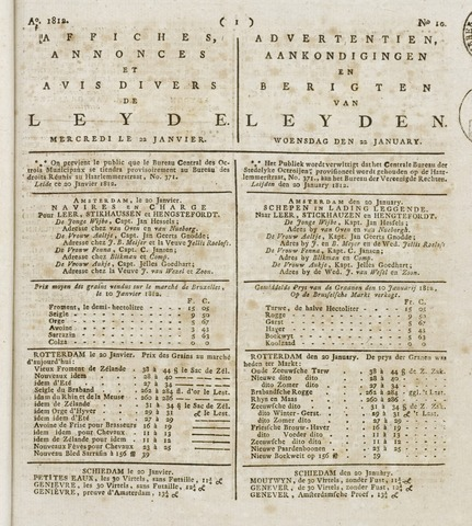 Leydse Courant 1812-01-22