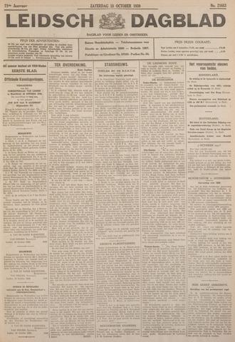 Leidsch Dagblad 1930-10-18