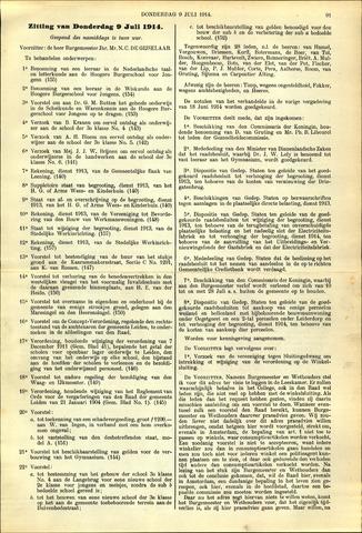 Handelingen van de Raad 1914-07-09