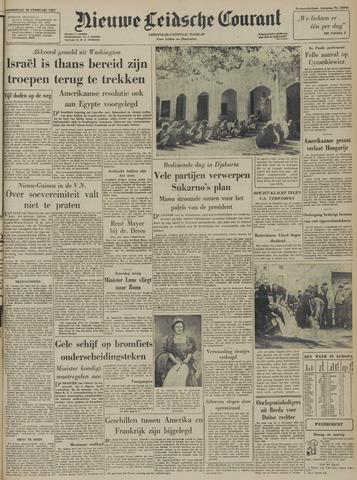 Nieuwe Leidsche Courant 1957-02-28