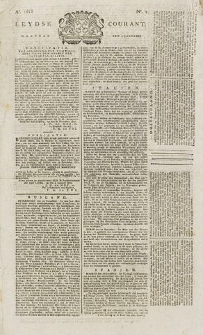 Leydse Courant 1818-01-05