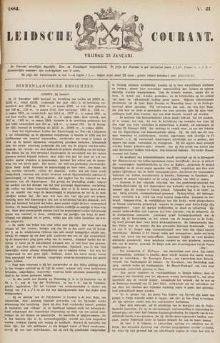 Leydse Courant 1884-01-25