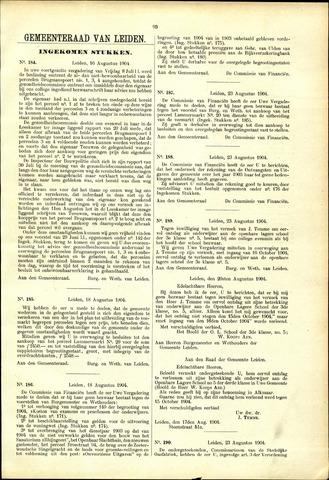 Handelingen van de Raad 1904-08-16