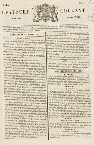 Leydse Courant 1844-11-18