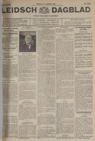 Leidsch Dagblad 1933-01-27