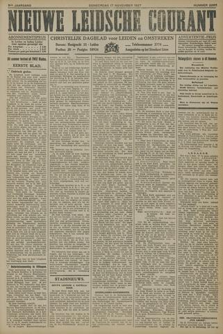 Nieuwe Leidsche Courant 1927-11-17
