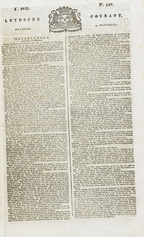 Leydse Courant 1841-11-22