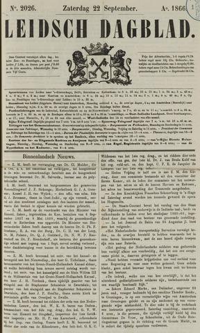 Leidsch Dagblad 1866-09-22