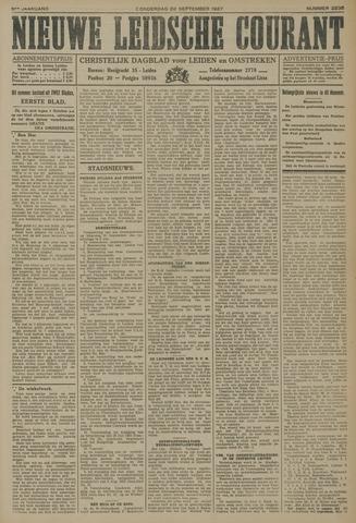 Nieuwe Leidsche Courant 1927-09-22