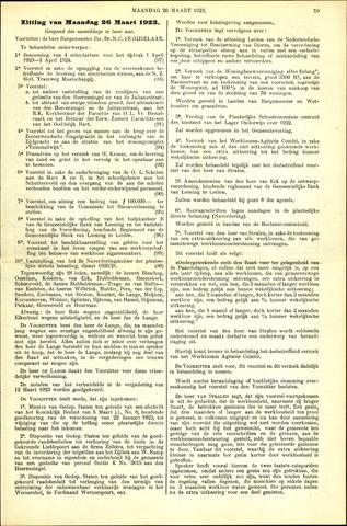 Handelingen van de Raad 1923-03-26