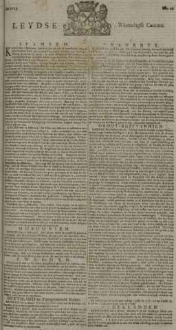 Leydse Courant 1729-03-09